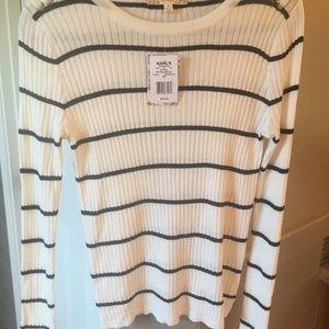 Cream and Black striped sweater